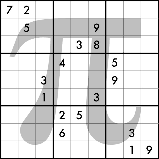 2010 Pi Day Sudoku Contest